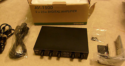 Vision Av-1500 Digital 25 + 25W Amplifier With Microphone Input