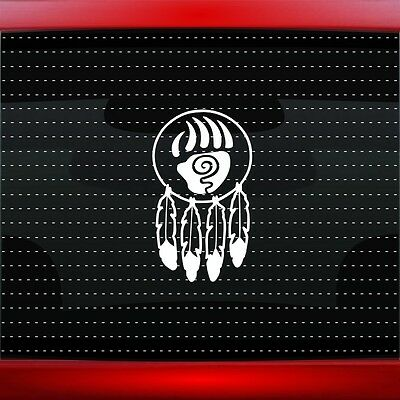 Dreamcatcher #3 Native American Car Decal Window Sticker Bear Paw (20 COLORS!)