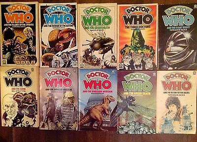 DOCTOR WHO  10 x Target series books 1975/9