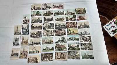 Old Postcards, Collection of 40 Churches and Cathedrals, early 20th Century.
