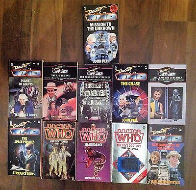 DOCTOR WHO  11 x (Target) books 1983/90