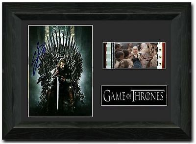 Game of Thrones 35 mm Framed Film Cell Display Signed Stunning Collectible S1
