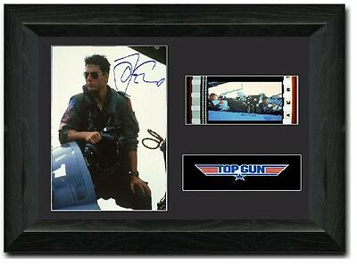 Top Gun Stunning 35 mm Framed Film Cell Display Signed Tom Cruise