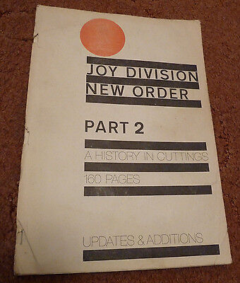 Orig' BOOK - 'A HISTORY IN CUTTINGS' Pt.2  Joy Division NEW ORDER factory