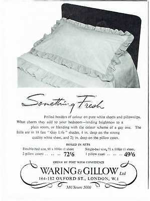 Vintage 1950's Advert - WARING AND GILLOW - 556