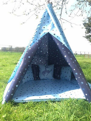 STARS TEEPEE CHILDRENS WIGWAM PLAY TENT 4ft/ 5ft/ 6ft WATERPROOF indoor/outdoor