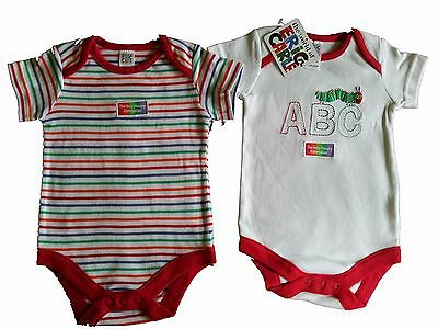 Job Lot Of 4 Packs Of 2 Babies The Very Hungry Caterpillar Vests  0-3 Months New