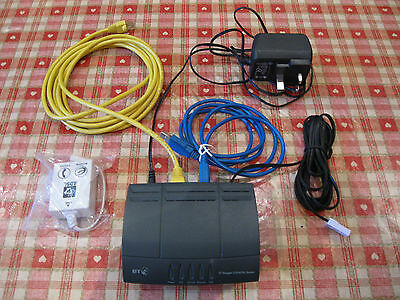 BT Voyager 210 Router  ADSL Modem With Cables Power Supply and In line Filter