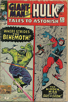 Tales to Astonish #67 (May 1965, Marvel) VG+, Giant-Man & Incredible Hulk