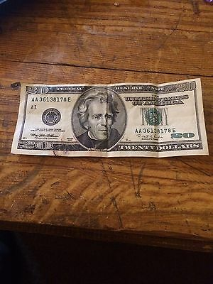 USA money $20 Dollar Used Banknote