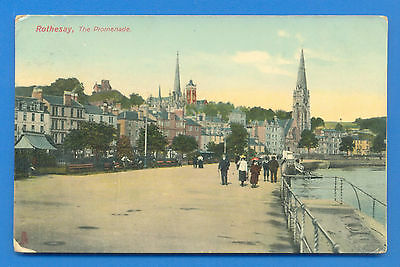 Rothesay.the Promenade.tucks Rapholette Postcard