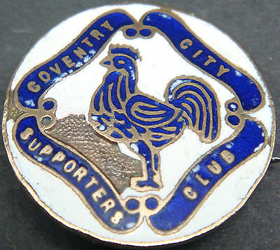 COVENTRY CITY Very rare 1940s 50s SUPPORTERS CLUB Badge Brooch pin 25mm Dia