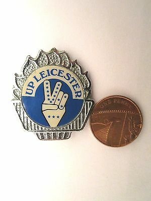 Large Vintage Leicester Fc  Football Badge/pin  Not Enamel