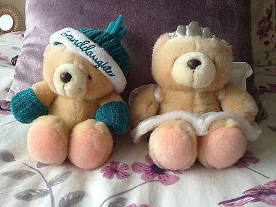 Two Forever Friends Soft Toy Bears Fairy & Granddaughter Winter Great Condition