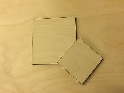 Birch Plywood Ply Sheet Squares Wooden Wood Board  Sheets Square Frame Craft