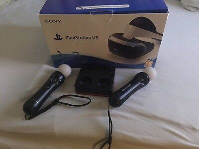 Sony PlayStation VR Headset Camera ulimate Bundle extra move controllers 5 games