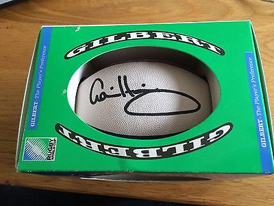 Mini Gilbert Scotland rugby ball signed by Gavin Hastings