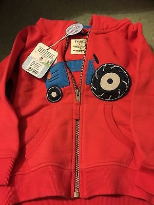 Frugi Tractor Hoodie Size 18-24 BNWT