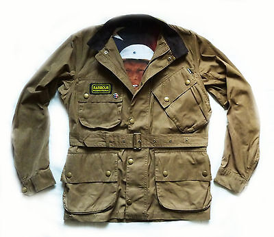 "Superb Barbour Steve Mcqueen "" Washington Casual "" Motorcycle Jacket - Med £295"