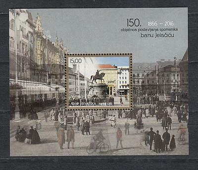 Architecture Croatia Kroatien  2016 MNH** 1079 ERECTING THE BAN JELAČIĆ STATUE