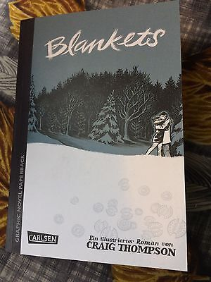 'Blankets' by Craig Thompson .In German. New Graphic Novel