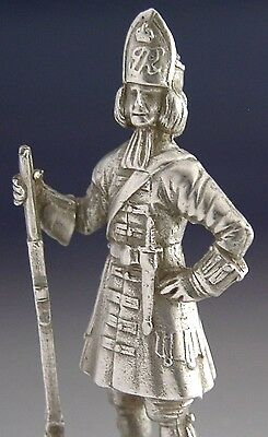 Solid Cast Sterling Silver Grenadier Soldier Figure 1978 Military