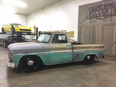 "1966 Chevrolet C-10 Custom 1966 CHEVROLET C10 RIDETECH AIR RIDE*NEW COYS 20"" SMOOTHIE WHEELS*283/3 SPEED"