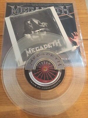 """Megadeth 7"""" Train Of Consequences On Vinyl"""