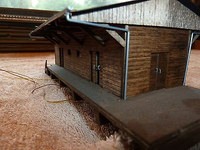 Busch HO 1421 Goods Shed ( Built ) suit german or Swiss outline ( wood kit)