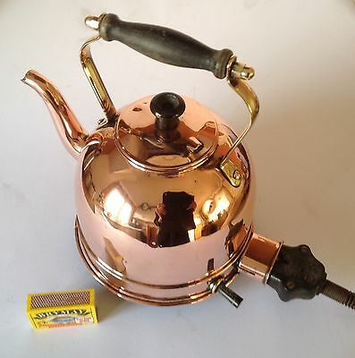 Vintage copper electric kettle, a decorative item of kitchenalia, well presente.