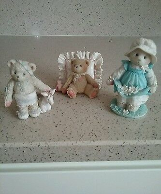 3 Cherished Teddies -'wylie', 'mandy' & 'gail'