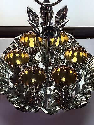 Silver plated WMF 6 piece egg and spoon holder various markings I/O Unsure