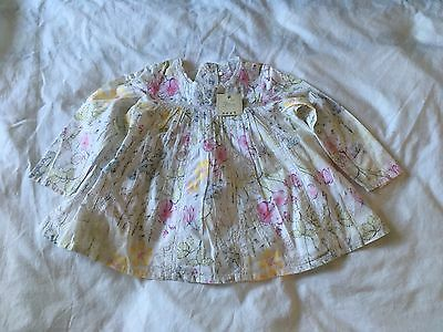 Next Girls Floral Tunic Top 12-18 Months New With Tags