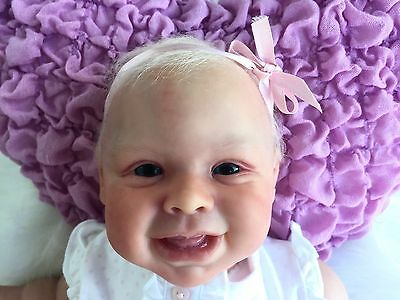 """Harper Arcello Cute Reborn Baby Girl Doll Babes In Arms Art Dolls 20"""" SOLE HTF"""