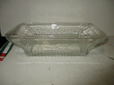 """Ribbed Bottom Clear Glass TRAY  7 1/2"""" X 4"""""""