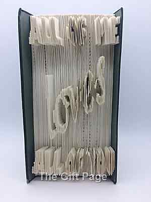 Folded Book Art Home House Warming Birthday Gift Valentines All of me Loves