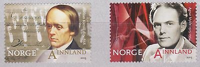 2015 NORWAY H Kjerulf and A Mykle, Musicians   NK 1914-15  MNH