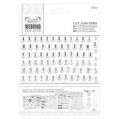 "Papermania Wedding Ever After 5x5"" Clear Alphabet Letters Rubber Stamps 