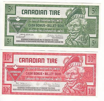 Canada Canadian Tire 5 Cents 2009 and 10 cents 2011