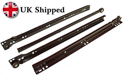 Metal Drawer Runners Sliders 350mm-450mm BROWN Order b4 2.30 4 Same Day Shipping