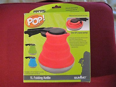 Summit Folding Kettle 1L Pop Red Edition Camping Festivals New FREE POSTAGE