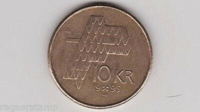 1995 Norway 10 kroner coin King Harald