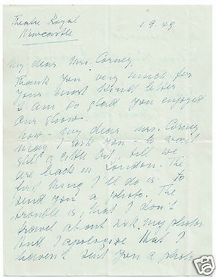 Frederick Valk German Actor Hand Written and signed Letter  1945