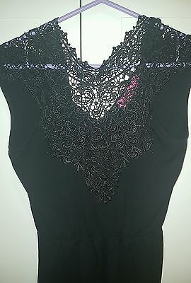 Size 10 Floral Lace Black Boohoo Playsuit