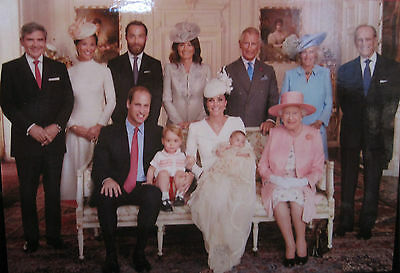 Christening of Princess Charlotte with Both Family Members Postcard