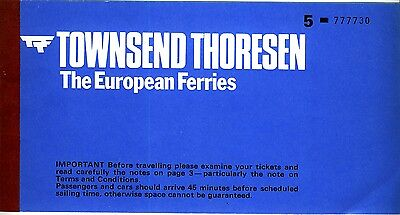 GB  1977? Townsend Thoresen cross-channel ticket with 'The European Ferries'