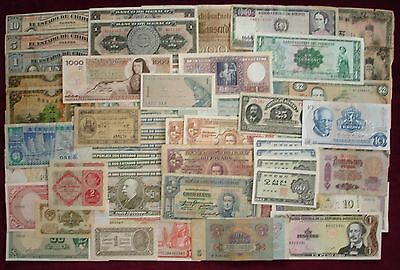 World Lot  of 62 notes from 25 countries        Very Good to UNC