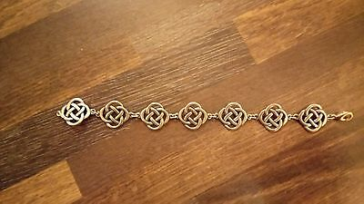 Ladies St Justin Pewter Celtic Bracelet