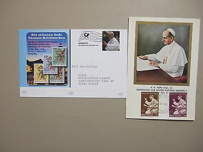 "Two ""POPE"" post cards:Germany postal stationery,Vatican maxi card"
