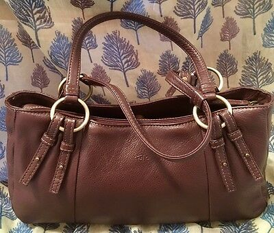 Tula by Radley Large/Medium brown leather bag Very Good Condition
